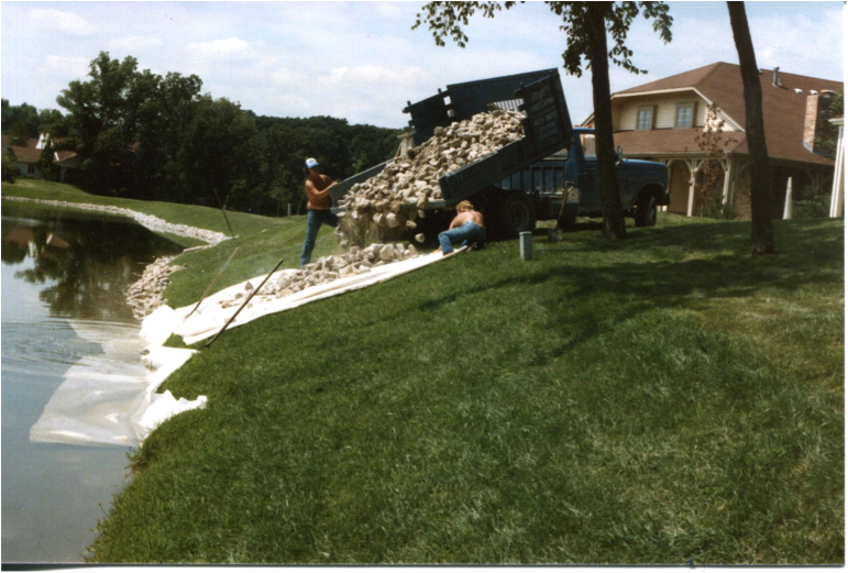 Meyer Landscaping RipRap Shoreline Stabilization