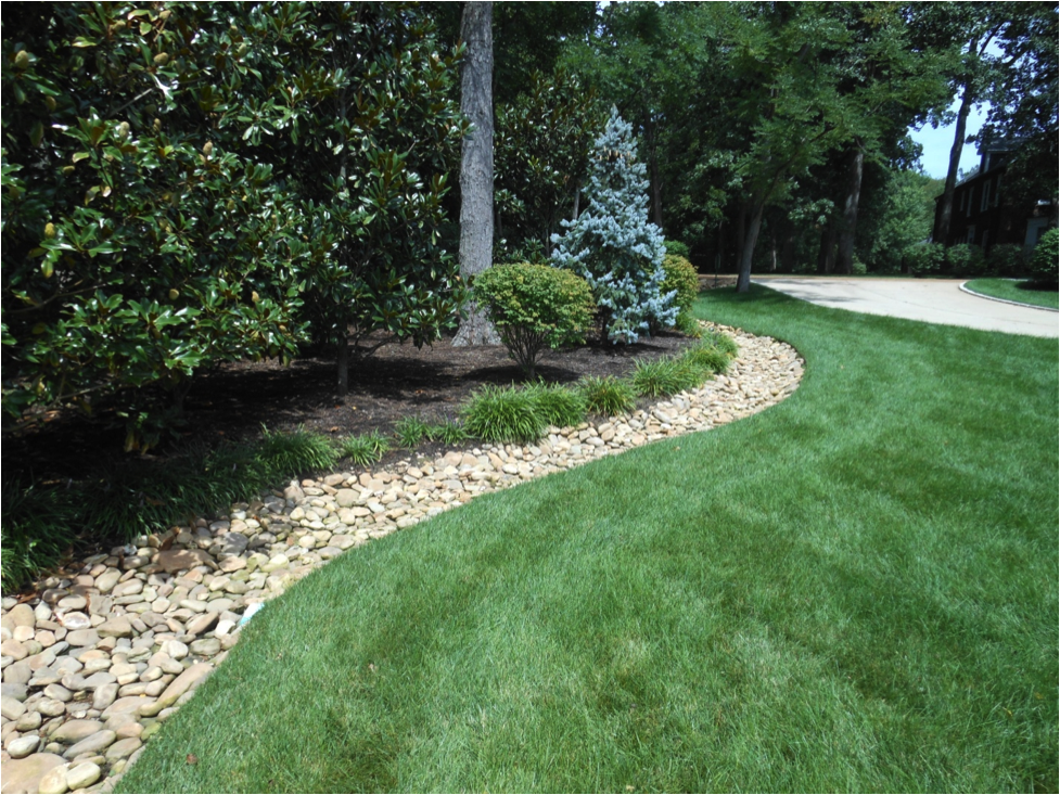 Meyer Landscaping Rock Lined Channels